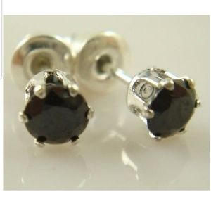Jewelry - Black Zircon Stud Earrings.